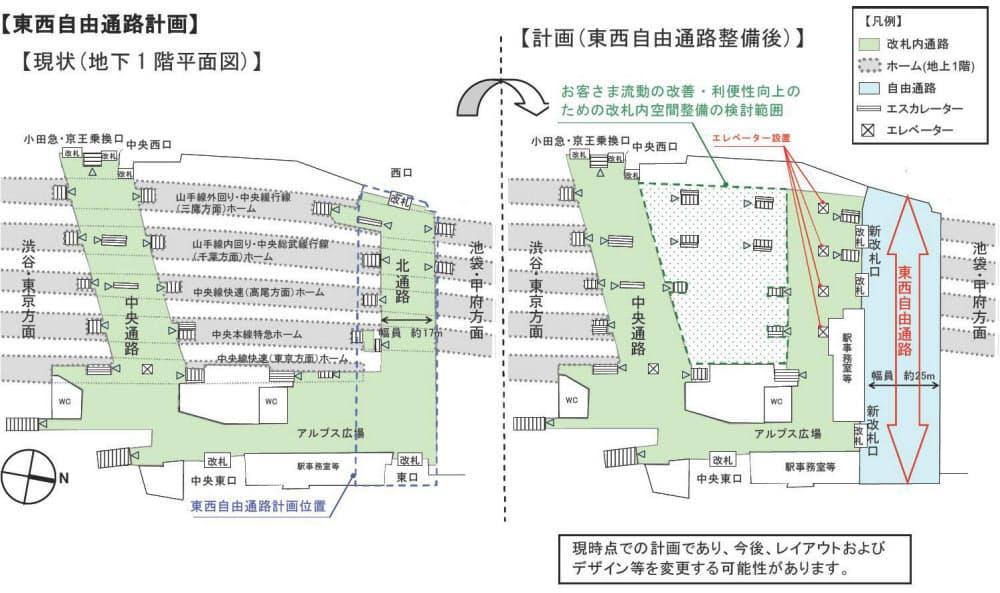 図 構内 新宿 駅